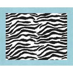 Sweet Jojo Designs Zebra Turquoise Collection Floor Rug at Kmart.com