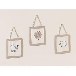 Sweet Jojo Designs Lamb Collection Wall Hangings