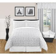Sweet Jojo Designs Diamond Gray and White Collection 3pc Full/Queen Bedding Set at Sears.com