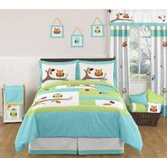 Sweet Jojo Designs Hooty Turquoise and Lime Collection 3pc Full/Queen Bedding Set at Kmart.com