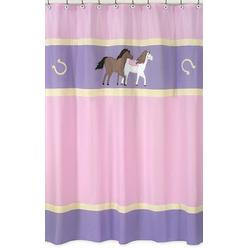 Sweet Jojo Designs Pony Collection Shower Curtain at Kmart.com