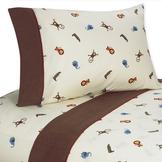 Sweet Jojo Designs Jungle Time Collection Twin Sheet Set at mygofer.com