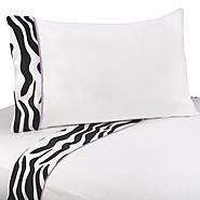 Sweet Jojo Designs Zebra Purple Collection Queen Sheet Set at Kmart.com