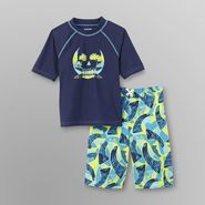 Joe Boxer Boy's Rash Guard Shirt & Swim Trunks - Surf Point at Kmart.com