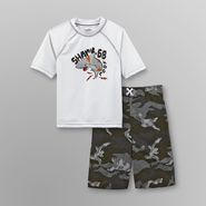 Joe Boxer Boy's Rash Guard Shirt & Swim Trunks - Shark at Kmart.com