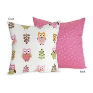 Sweet Jojo Designs Owl Pink Collection Decorative Pillow at Sears.com