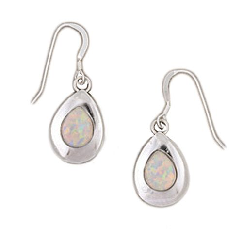 Handcrafted Lustrous Opal & Sterling Silver Earrings