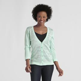 Jaclyn Smith Women's Studded Cardigan Sweater at Kmart.com