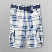 Route 66 Boy's Belted Cargo Shorts - Plaid at Kmart.com