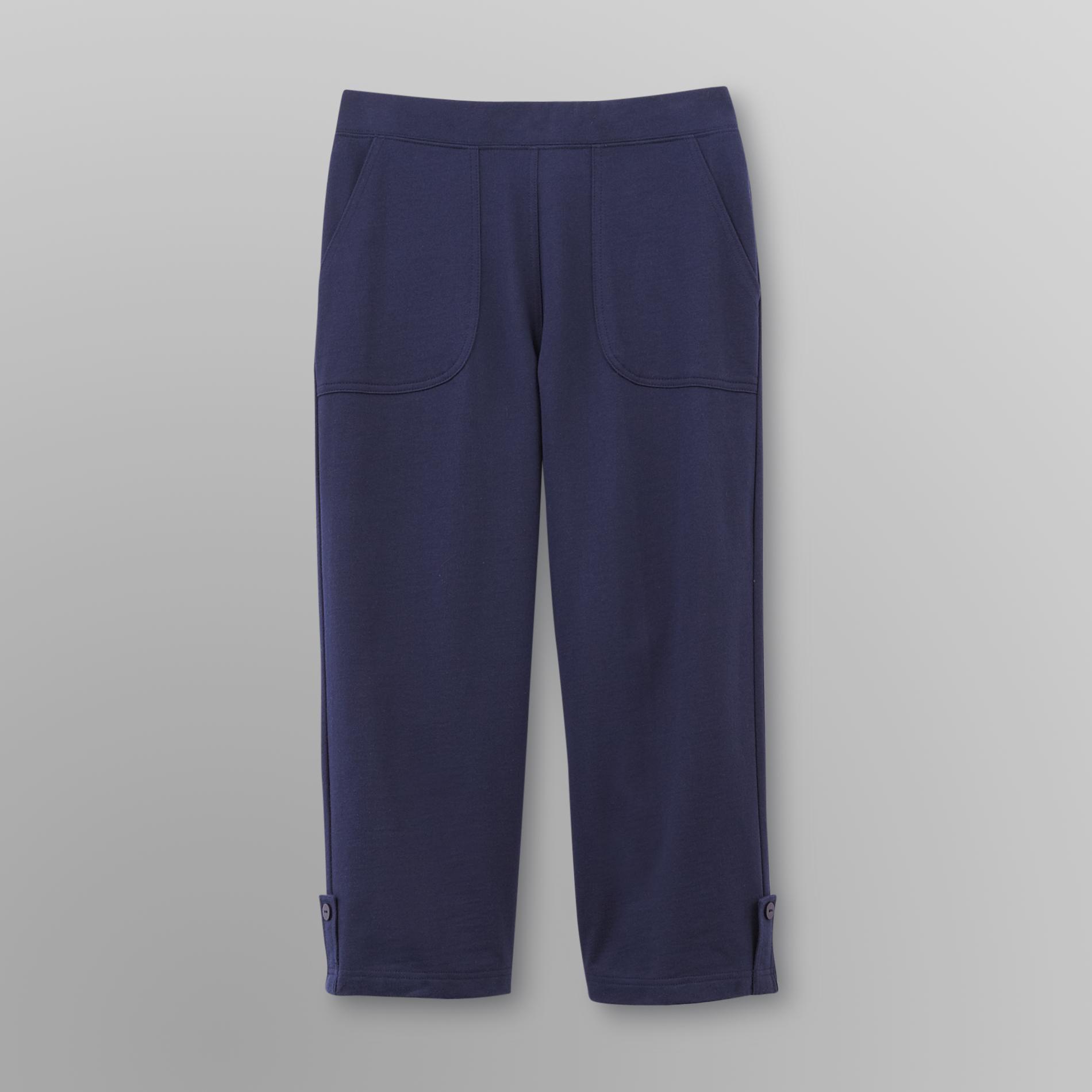 Basic Editions Women's Jersey Knit Capri Pants