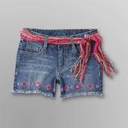 Route 66 Girl's Belted Jean Shorts - Medium Wash at Kmart.com