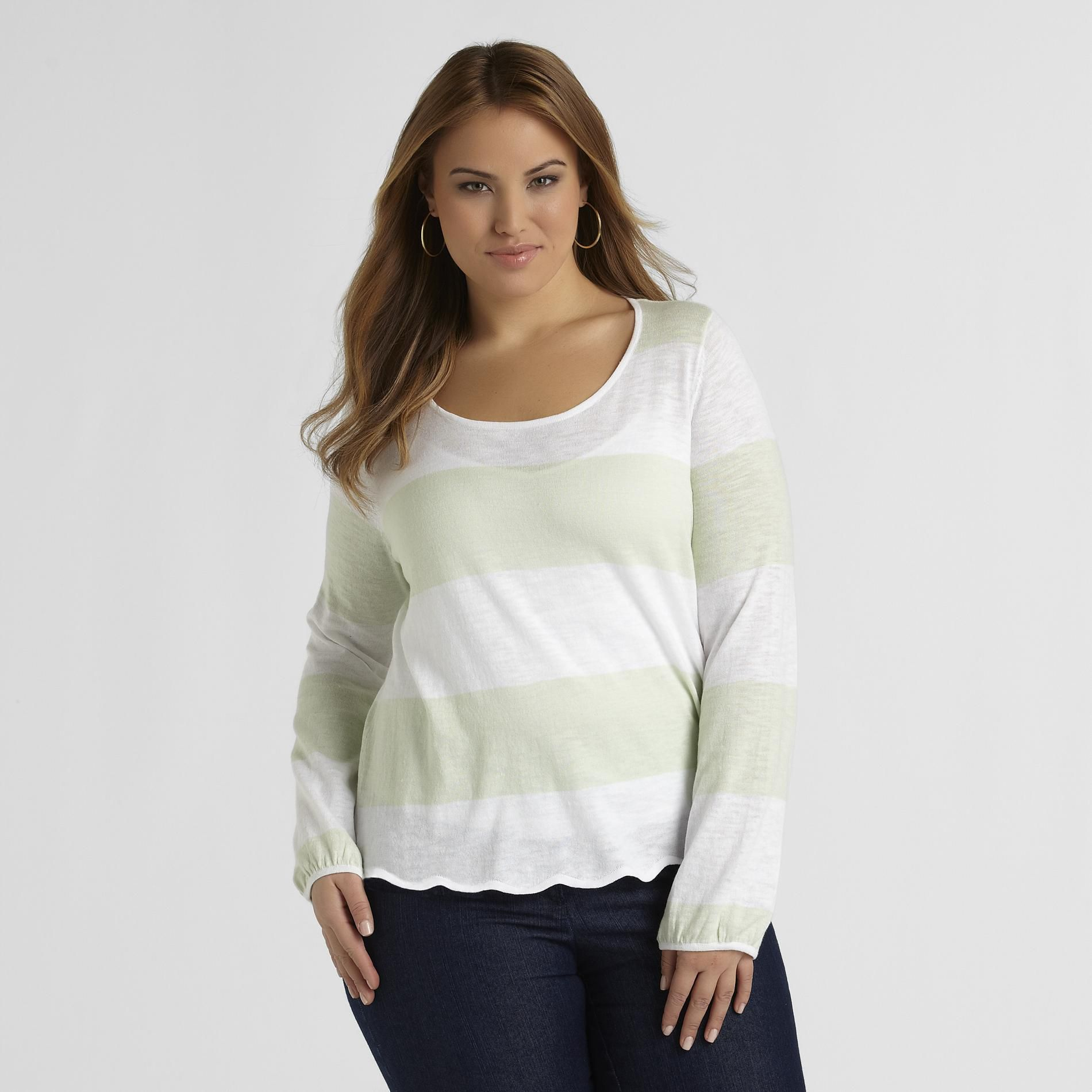Love Your Style, Love Your Size Women's Plus Sweater - Stripes at Kmart.com