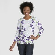 Laura Scott Women's Cardigan Sweater - Floral at Sears.com