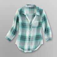 Bongo Junior's Sheer Chiffon Blouse - Plaid at Sears.com