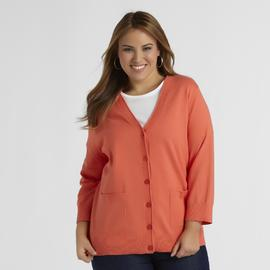 Basic Editions Women's Plus Cardigan Sweater at Kmart.com
