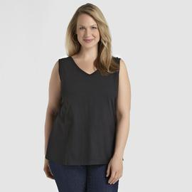 Basic Editions Women's V-Neck Tank Top at Kmart.com