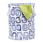 Honey-can-do Medium Patterned Pop Open Hamper, blue squares at Sears.com