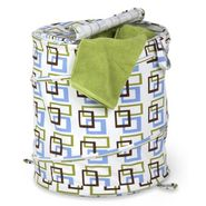 Honey-can-do Large Patterned Pop Open Hamper, brown/green squares at Sears.com