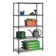 Honey-can-do Five tier black storage shelves 800lb at Sears.com