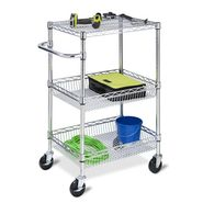 Honey Can Do 3-Tier Chrome HD Urban Rolling Cart at Kmart.com