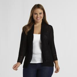 Jaclyn Smith Women's Plus Crocheted Look Cardigan at Kmart.com