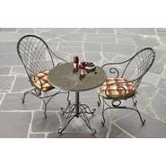 Jaclyn Smith Cherry Valley Granite Bistro Table- Red at Kmart.com