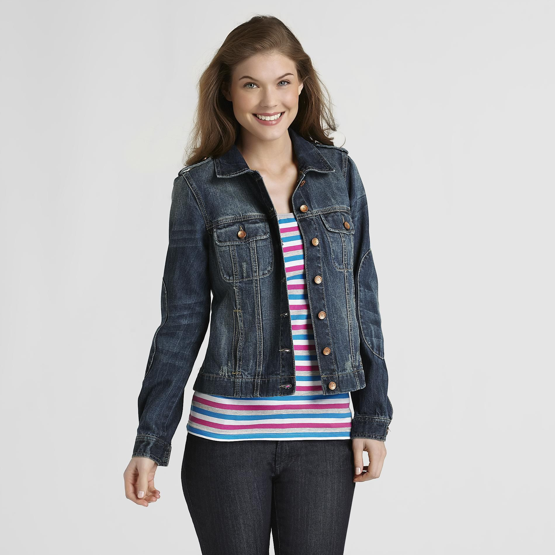 Route 66  Women's Destructed Denim Jacket