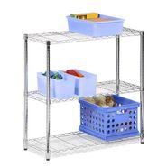Honey Can Do 3 tier chrome shelving unit- 250lb at Kmart.com