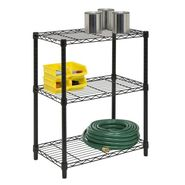 Honey Can Do 3-Tier black shelving unit- 250lb at Kmart.com