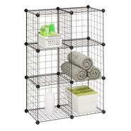 Honey Can Do 6 Pack Modular Mesh Storage Cube, Black at Sears.com