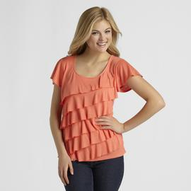 Attention Women's Ruffled Top at Kmart.com