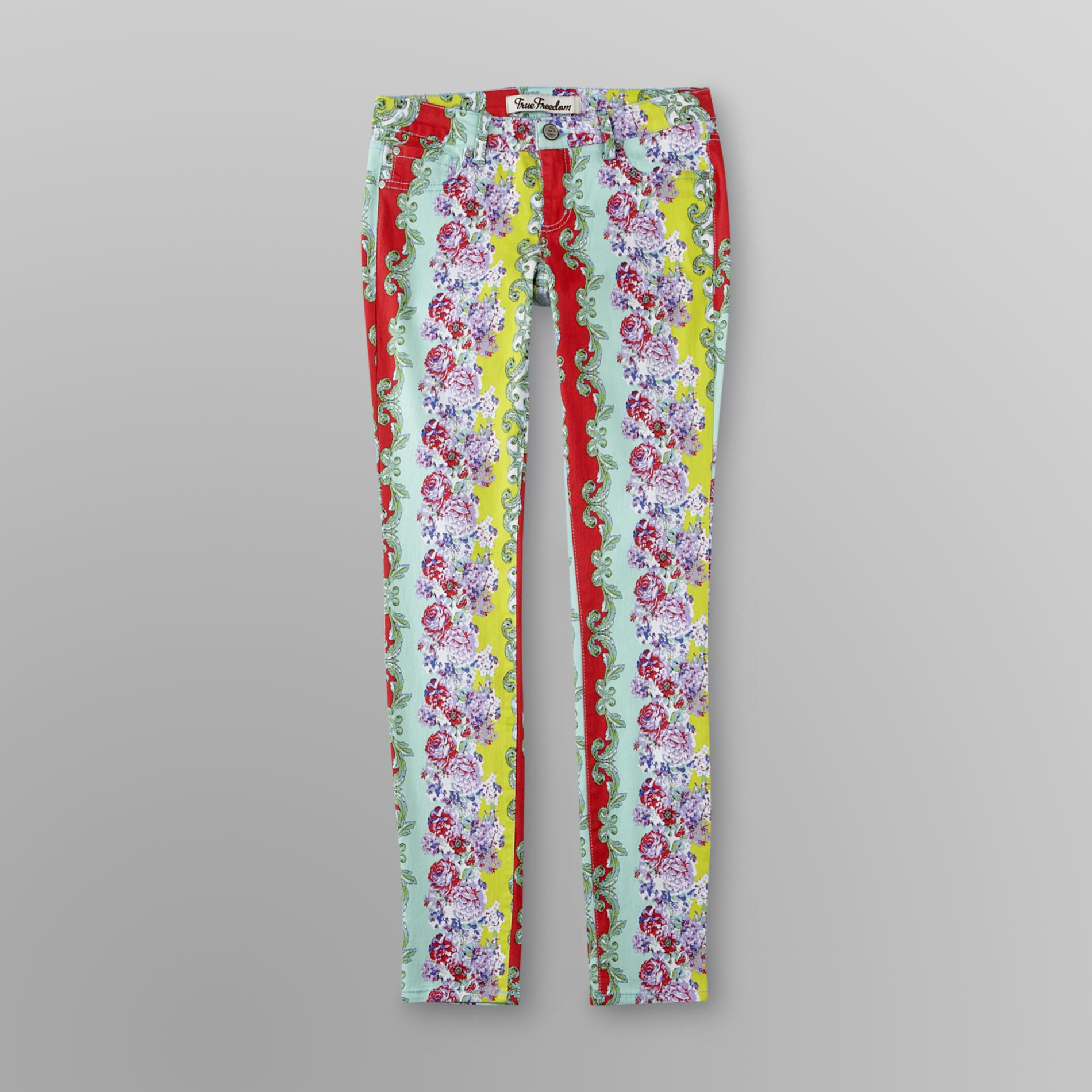 True Freedom Junior's Twill Jeggings - Floral at Sears.com