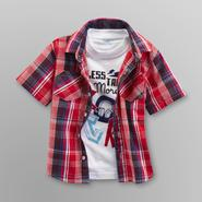 Toughskins Infant & Toddler Boy's Plaid Shirt & Graphic T-Shirt - Rock at Sears.com