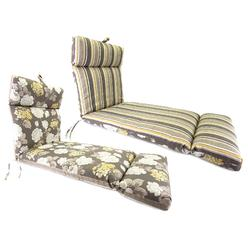 Jordan Manufacturing Co., Inc. Vivienne/Brandy Stripe Putty French Edge Chaise Cushion at Kmart.com