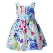 Youngland Infant & Toddler Girls' Dress Tulip Floral Print Shantung at Sears.com