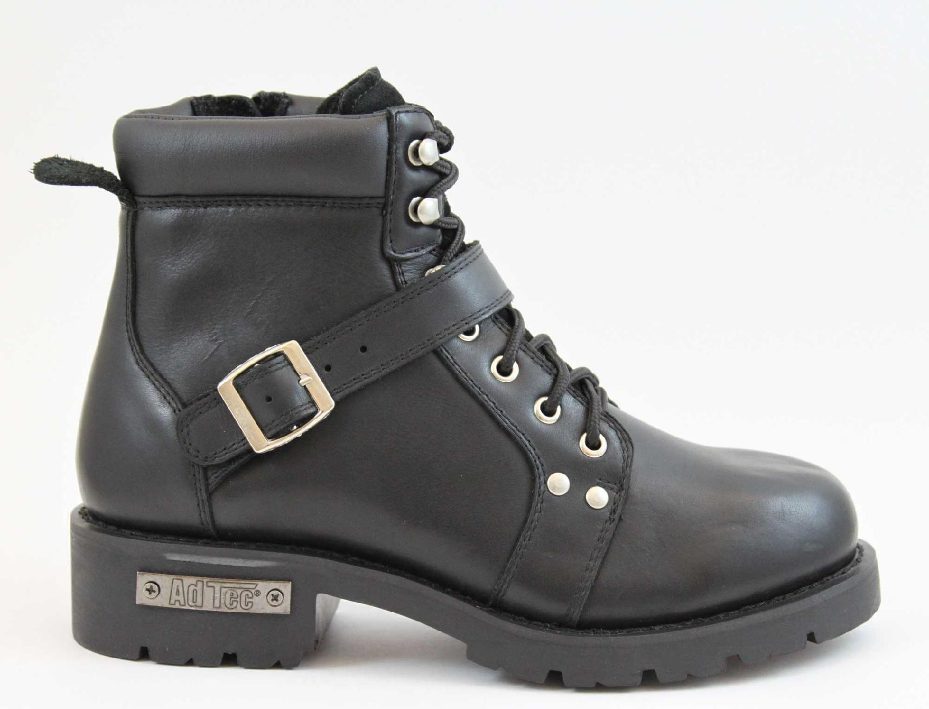 """AdTec Women's 6"""" Motorcycle Boot - Black PartNumber: 067VA2544601P MfgPartNumber: 8143"""