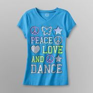 Canyon River Blues Girl's Graphic T-Shirt - Peace, Love & Dance at Sears.com