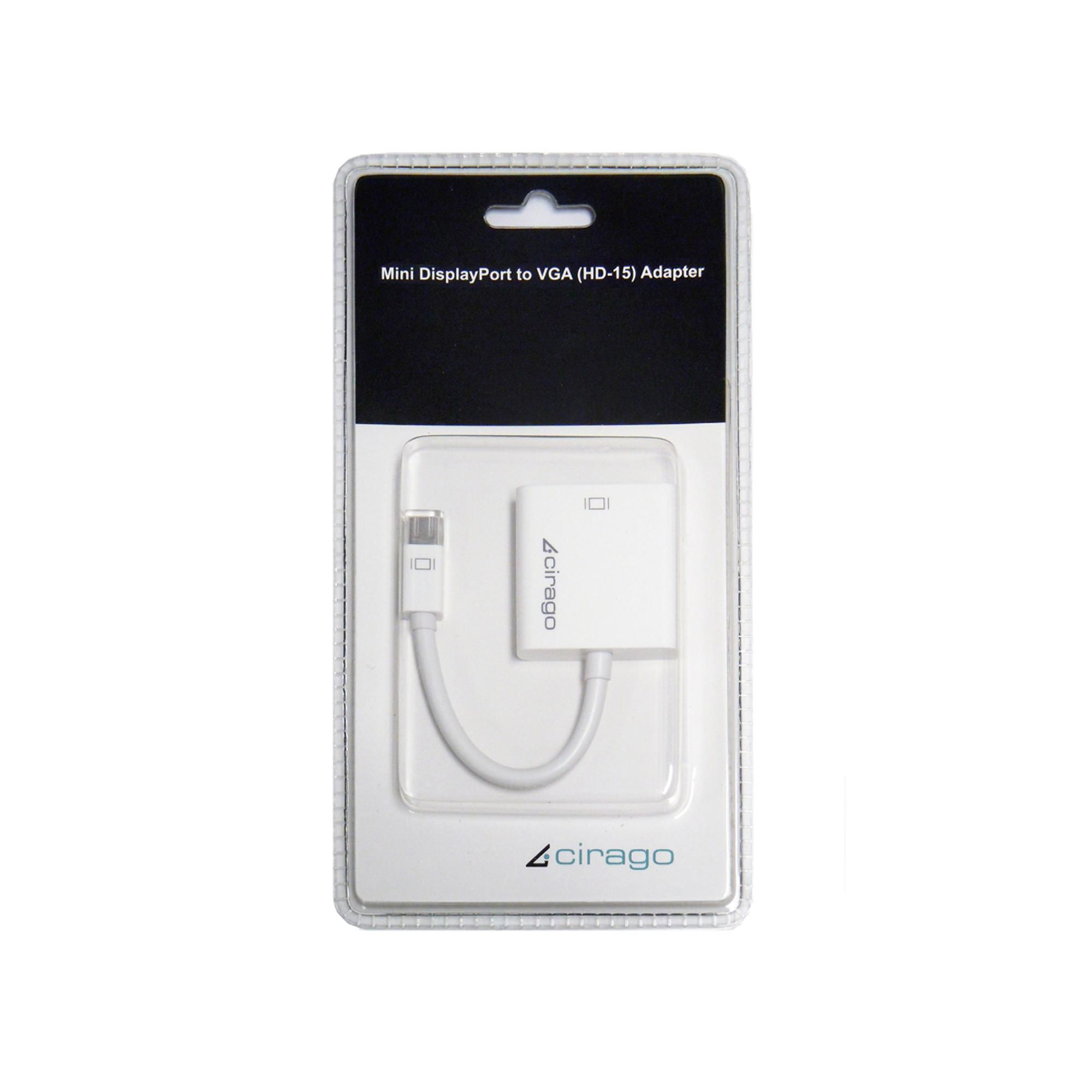 CIRAGO  Cirago Mini DisplayPort to VGA (HD-15)Adapters  ENERGY
