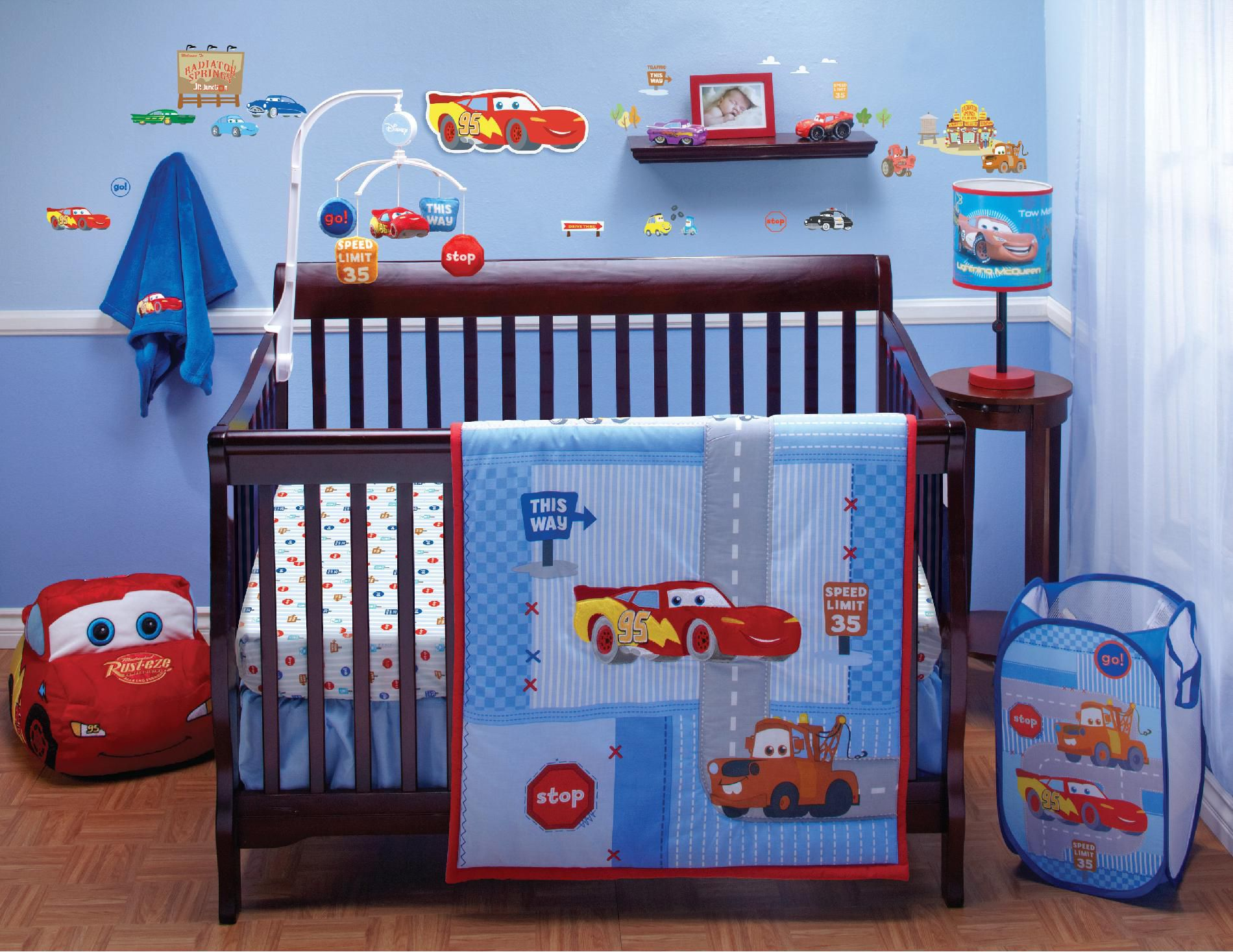 Crib Bedding Set Cars Little Racer 4-Piece