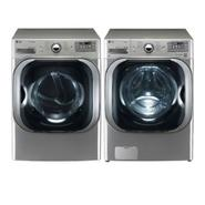 LG 5.1 cu. ft. Mega-Capacity Steam Front-Load Washer and 9.0 cu. ft. Mega-Capacity Steam Dryer at Sears.com