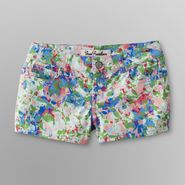 True Freedom Junior's Color Print Denim Shorts at Sears.com