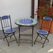 RST Outdoor Blue Moorish Tiles 3-Piece Bistro Set at Kmart.com