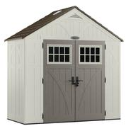 Craftsman 8' x 4' Resin Storage Building, 206 cu. ft. - Exclusive VersaTrack™ Compatibility at Sears.com