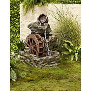 Garden Oasis Lighted Rock with Wheel Fountain at Sears.com