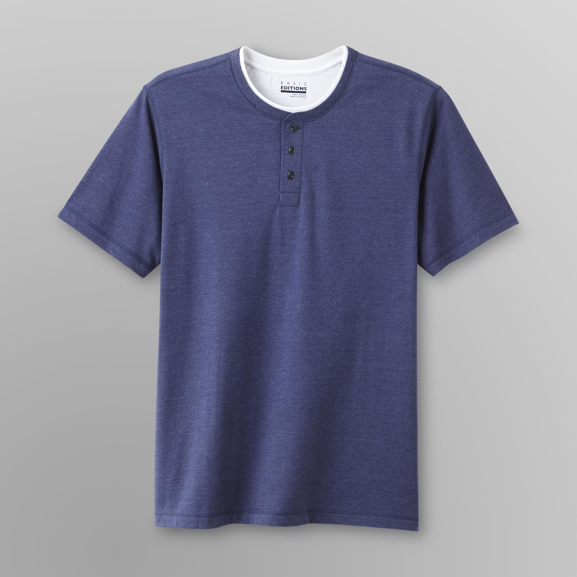 Basic Editions Men's Henley - Heather at Kmart.com