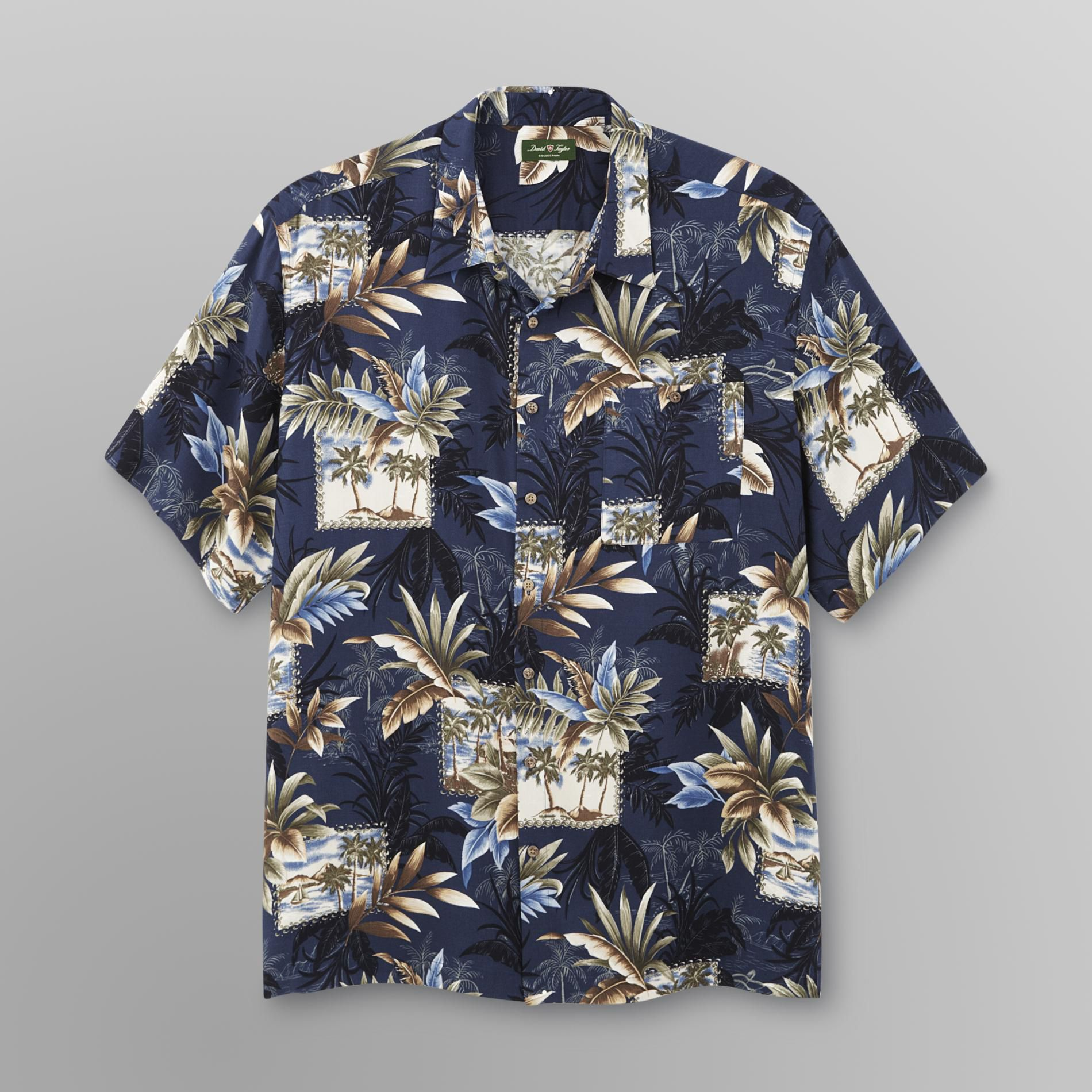 David Taylor Men's Camp Shirt - Floral Print at Kmart.com