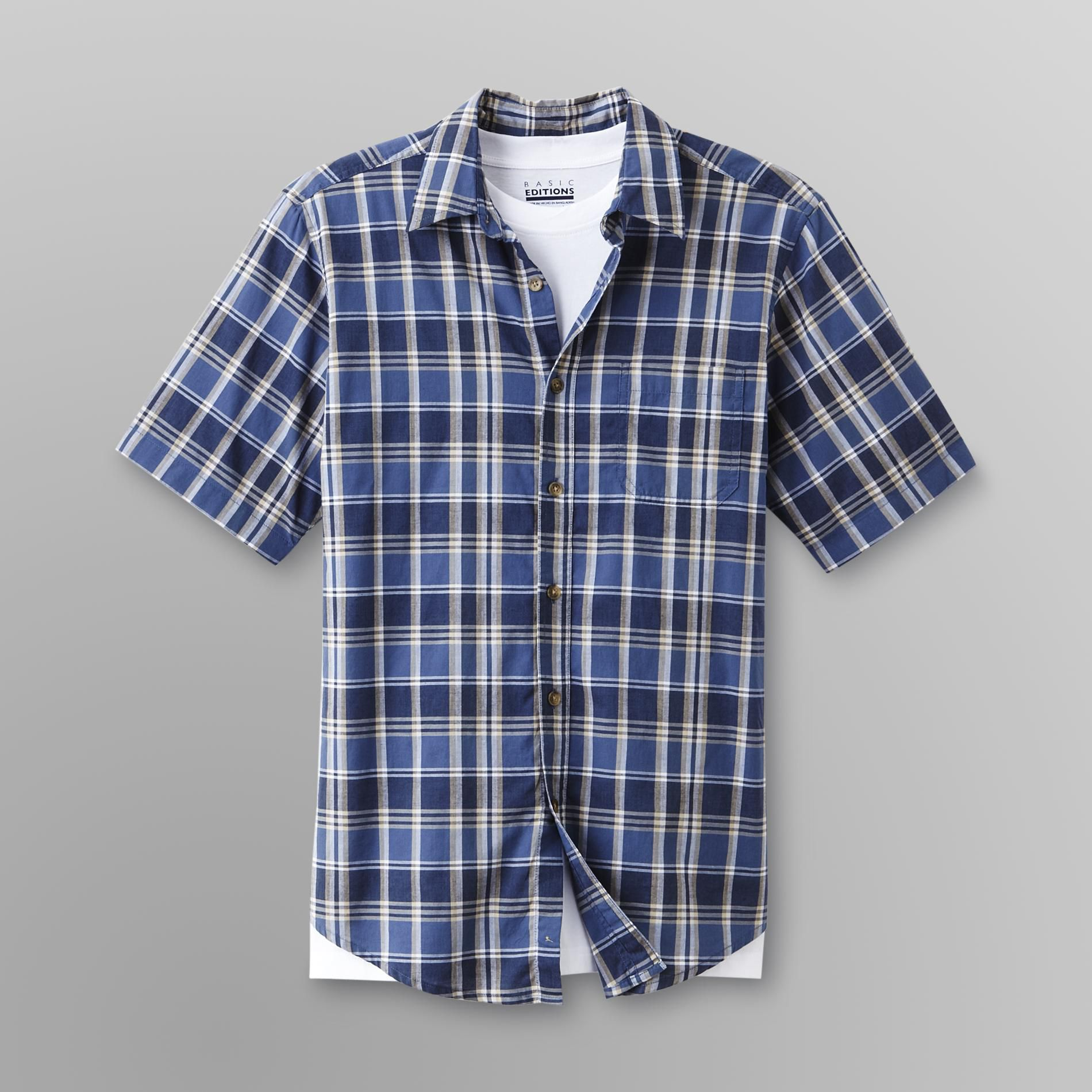 Basic Editions Men's Layered Shirt & T-Shirt at Kmart.com