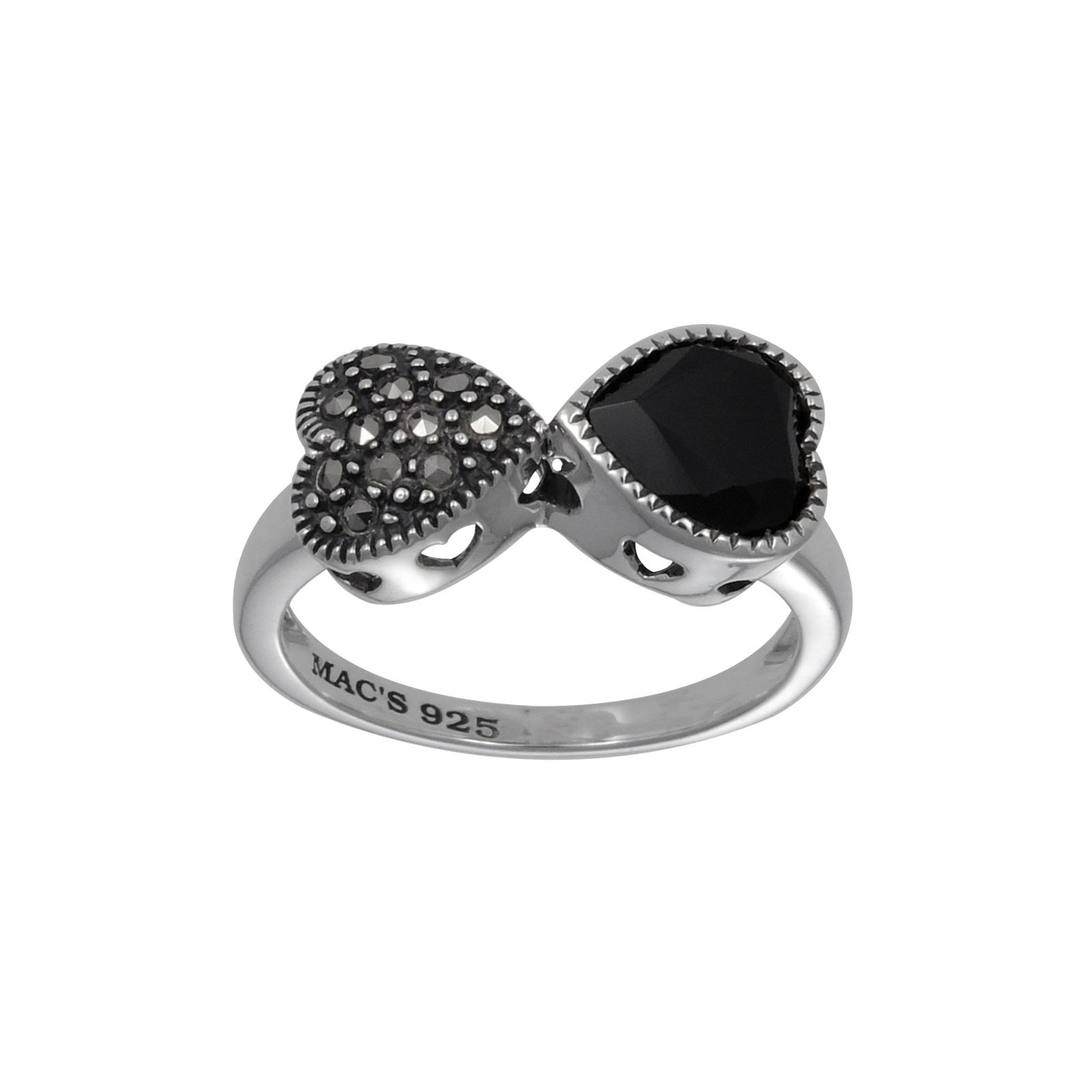 Mac's Ying-Yang Heart Shape Ring