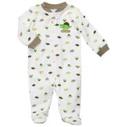 Carter's Newborn & Infants Boy's 'Dinosaur' Zippered Long Sleeve Romper at Sears.com