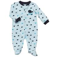 Carter's Newborn & Infants Boy's 'Whale' Zippered Long Sleeve Romper at Sears.com